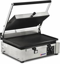 "Elite Series Panini Grill with Grooved Top and Bottom - 10"" x 14"" 