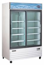 "Zanduco 53"" 2-Door Sliding Glass Cooler - White 45 cu. Ft. 