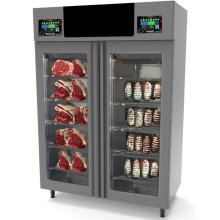"Stagionello + Maturmeat 100 + 100 kg Cabinet with ClimaTouch, Fumotic and Rear Glass Panel - 58"" STGTWCOTW 