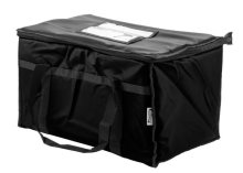 "Choice Insulated Food Delivery Bag / Pan Carrier, Black Nylon, 23"" x 13"" x 15"" 