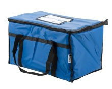 "Choice Insulated Food Delivery Bag / Pan Carrier, Blue Nylon, 23"" x 13"" x 15"" 