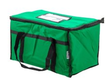 "Choice Insulated Food Delivery Bag / Pan Carrier, Green Nylon, 23"" x 13"" x 15"" 