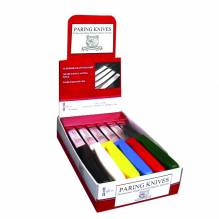 "4"" Paring Knife Set, Assorted Handle Colors, 24 Each / Retail Box 