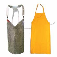 "Mesh Apron 20""W X 20""L, Stainless Steel 