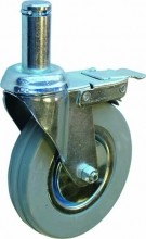 "Zanduco 5"" Wire Shelf Caster With Brakes  