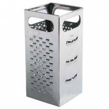 "Zanduco 9"" x 4"" x 4"" Stainless Steel Box Grater 