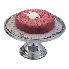 "Zanduco 13"" Stainless Steel Cake Stand 