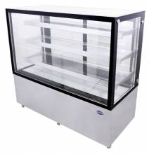 "Zanduco 60"" Square Glass Floor Refrigerated Display Case with 23.66 cu. ft. 