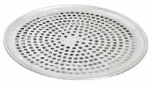 "Zanduco 14"" Aluminum Perforated Pizza Pan 