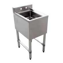 "1 Compartment Underbar Sink with No Drain Board 10"" X 14"" X 10"" 