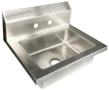 "Zanduco 14.5"" x 14"" x 18"" Fabricated Stainless Steel Handsink with Bowl Size 14"" X 10"" X 5"" NSF 