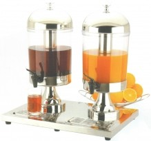 Double Ice Cooled Juice Dispenser 16-Quart | Smallwares | Zanduco US