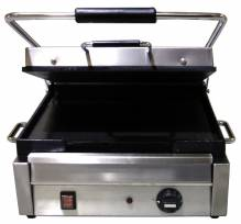 "1800-Watt Single Panini Grill with Flat Top and Bottom - 12"" x 15"" 