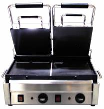 "3200-Watt Double Panini Grill with Flat Top and Bottom - 10"" x 18"" 