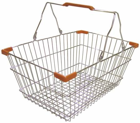 Chrome Shopping Basket | Material Handling & Storage | Zanduco CA