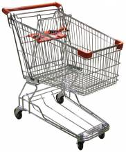 "Supermarket Grocery Shopping Cart with 110 Lb Load Capacity- 33"" L x 20.5"" W x 36.5"" H 