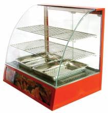 "26"" Curved Glass Display Warmer"