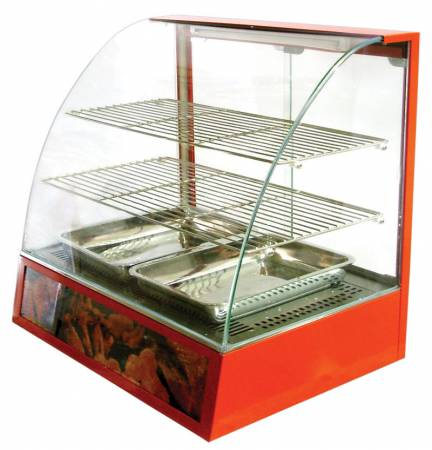 "26"" Curved Glass Display Warmer 