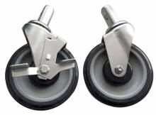 "5"" Middle Duty Bun Pan and Lug Rack Casters 