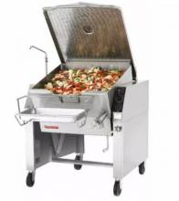 Market Forge 30P-STEL Tilting Skillet, 30 gal. Capacity, Open Leg Frame Base, 208/3 V | Kitchen Equipment | Zanduco CA