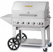 "Crown Verity 36"" Natural Gas Mobile Grill Package 
