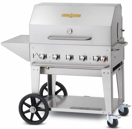 "Crown Verity 36"" Natural Gas Mobile Grill Package MCB-36PKG-NG 