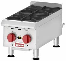 Countertop Stainless Steel Gas Hot Plate with 2 Burners | Restaurant Equipment | Zanduco CA