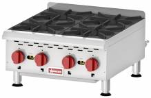 Countertop Stainless Steel Gas Hot Plate with 4 Burners | Restaurant Equipment | Zanduco CA