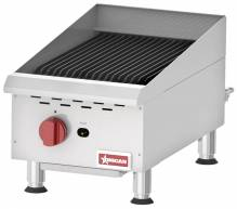 Countertop Stainless Steel Gas Char-Broiler with 1 Burner | Restaurant Equipment | Zanduco CA