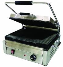 "1800-Watt Single Panini Grill with Ribbed Top and Bottom - 12"" x 15"" 