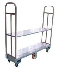 "16"" x 48"" Heavy-Duty U-Boat Utility Cart - 2000 lb. Capacity, Gray 