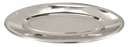 "Bon Chef 21 1/4"" x 8 3/4"" x 1 1/2"" Stainless Steel Oval Fish Platter 5218 