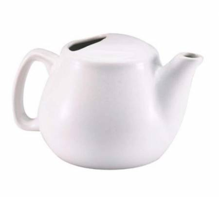 Ceramic 16oz White Teapot | Dinnerware | Zanduco CA