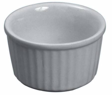 2.5oz White Ceramic Ramekin | Dinnerware | Zanduco US