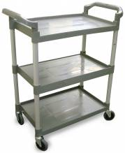 Plastic Bussing Cart - Gray | Material Handling Transport & Storage | Zanduco CA