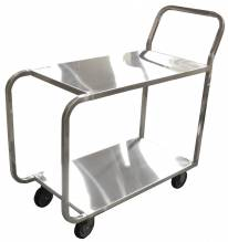 Welded Stainless Steel Stock Cart | Material Handling Transport & Storage | Zanduco US