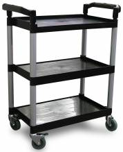 Plastic Bussing Cart - Black | Material Handling Transport & Storage | Zanduco CA