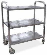 "Stainless Steel Bussing Cart - 27.25"" x 15.75"" 