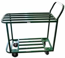 All Welded Stocking Cart - Powder Coated Green | Material Handling Transport & Storage | Zanduco US