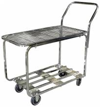 Chrome Stock Cart | Material Handling Transport & Storage | Zanduco US