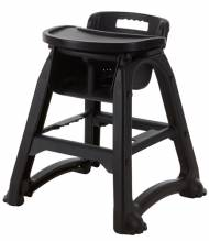 Baby Dinner High Chair With Tray in Black | Furniture | Zanduco CA