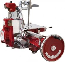 "Volano Historic 12.5"" Manual Meat Slicer with Standard Flywheel - Red 
