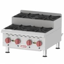 Countertop Stainless Steel Step Up Gas Hot Plates with 4 Burners | Restaurant Equipment | Zanduco US