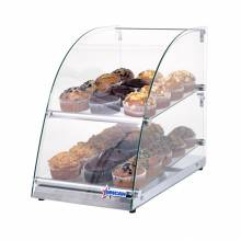 "14"" Countertop Food Display Case with Curve Front Glass and 70 L capacity 
