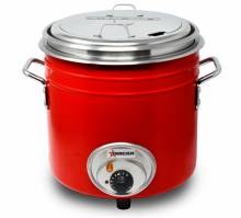 11 QT Red Retro Stock Pot Kettle | Restaurant Equipment | Zanduco CA