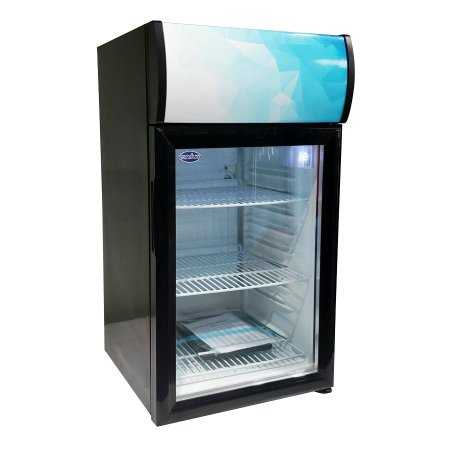 "Zanduco 17"" Countertop Display Refrigerator with 52L Capacity 