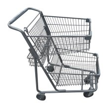 Shopping Cart with Double Baskets | Material Handling & Storage | Zanduco CA