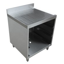 "304 Stainless Steel 18 Gauge Corruagted Top Glass Rack Storage Unit for 3 Racks - 23"" X 24"" X 33""  