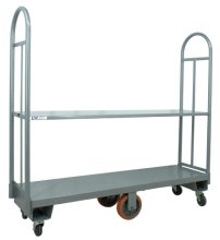 "16"" x 60"" Heavy-Duty U-Boat Utility Cart - 2500 lb. Capacity, Gray 