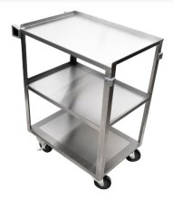 "30.5"" 18 Gauge 304 Stainless Steel Welded Utility Cart - 19 1/4"" X 30 5/8"" X 33"" 